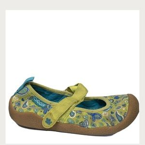 Chooze Girls Dance Giggle Green Floral Shoes